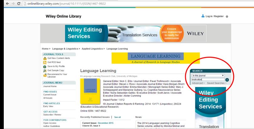 ảnh chụp màn hình Wiley Online Library